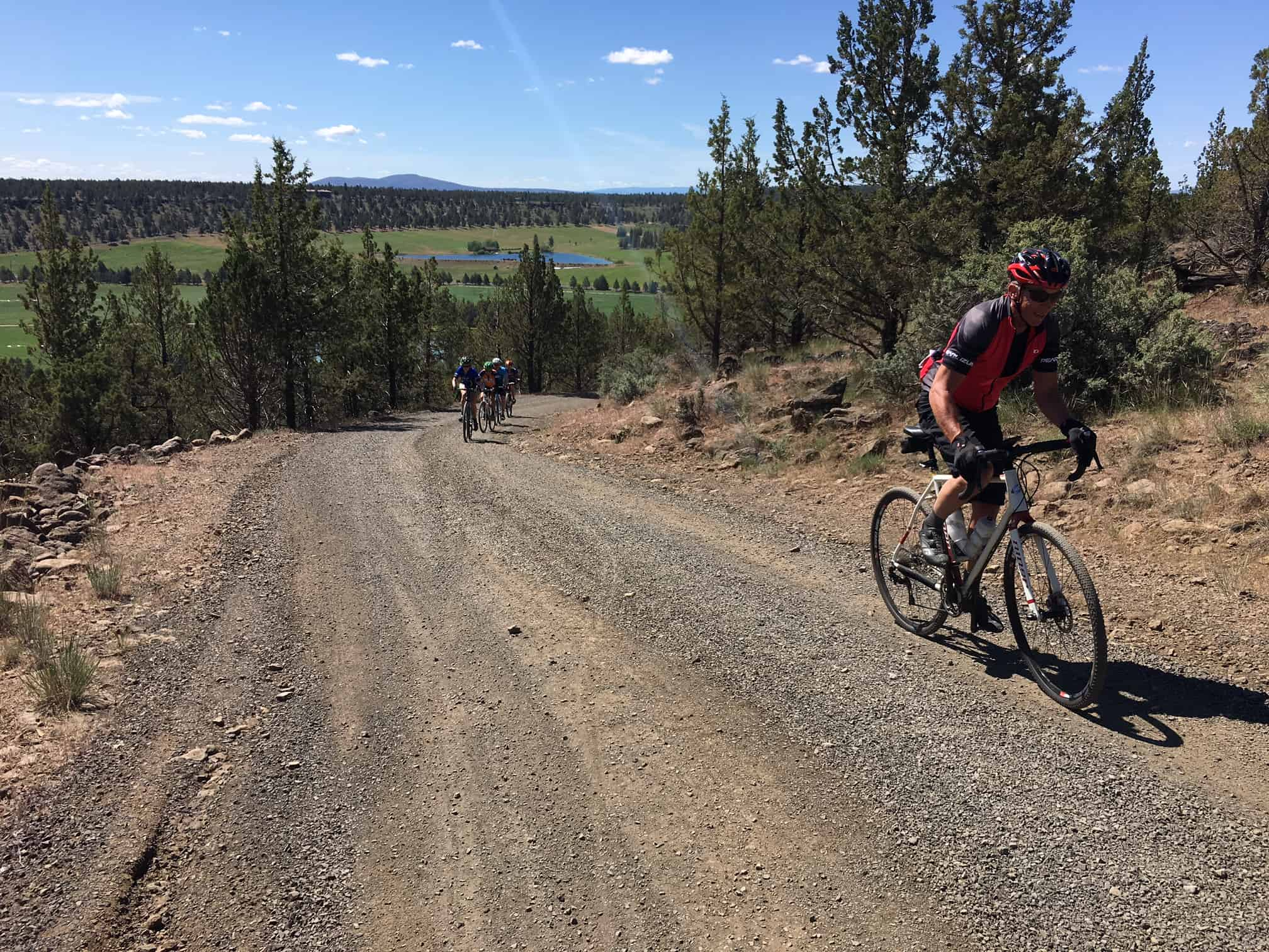 Gravel grinding by Whychus Creek, Sisters, Oregon