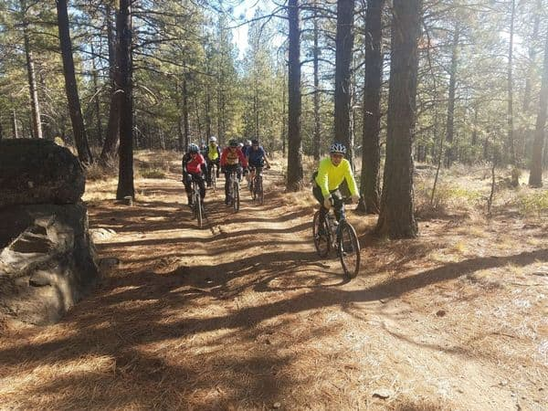 Cyclists by Century Drive Visitor Center, Deschutes National Forest