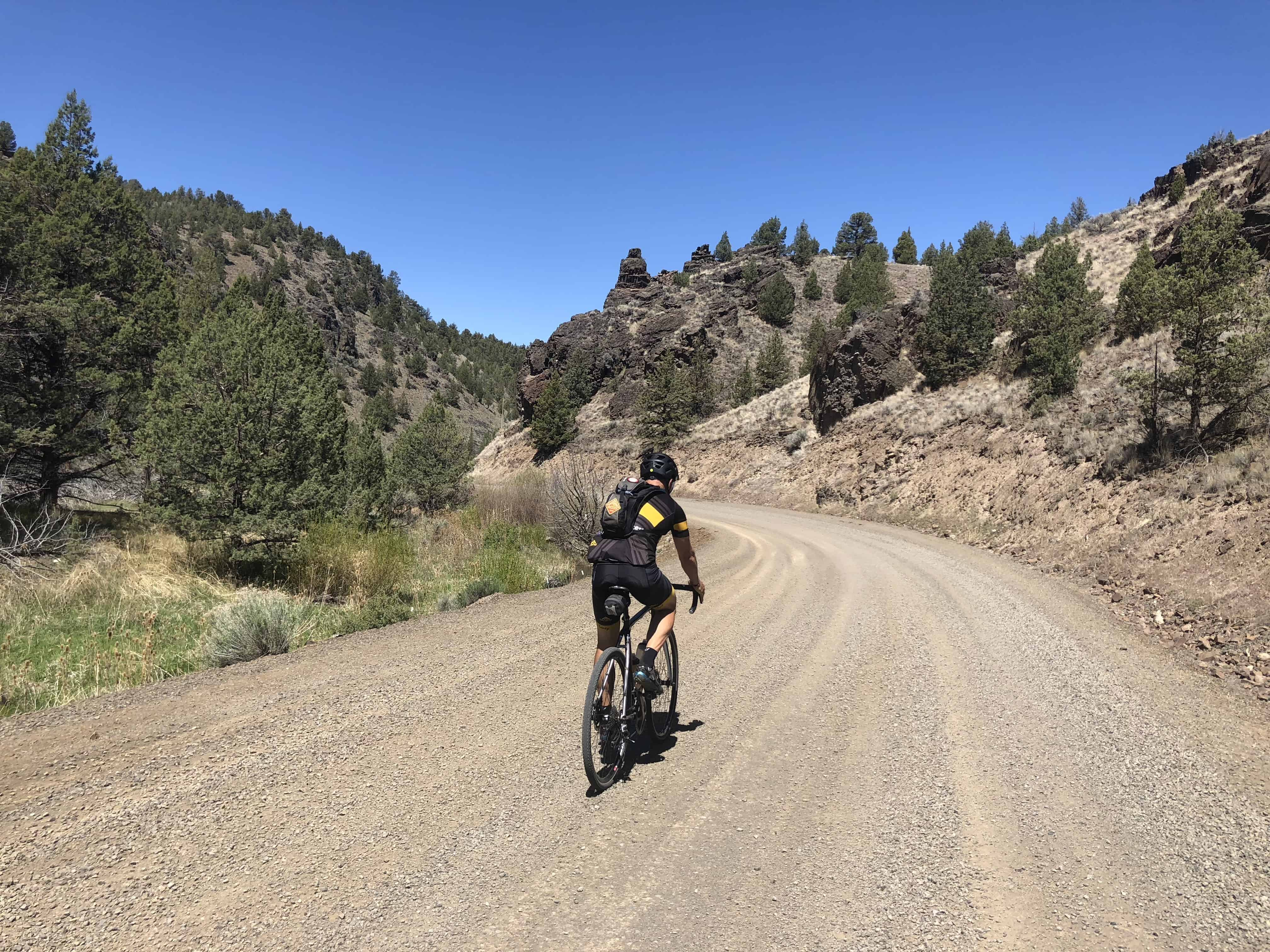 A small canyon like formation along the gravel section of Bear Creek road.