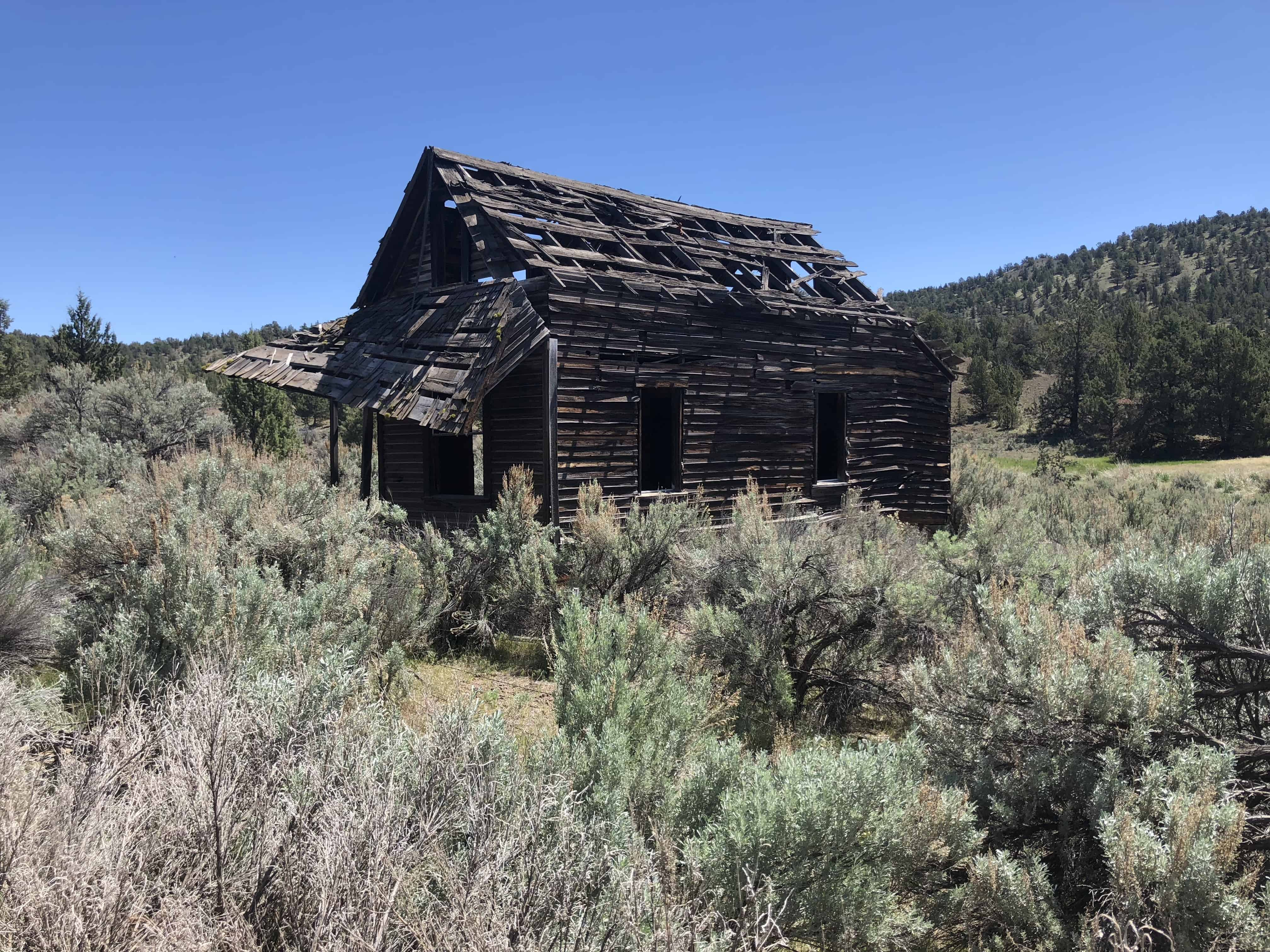 One of the old homestead buildings along Roberts Road.