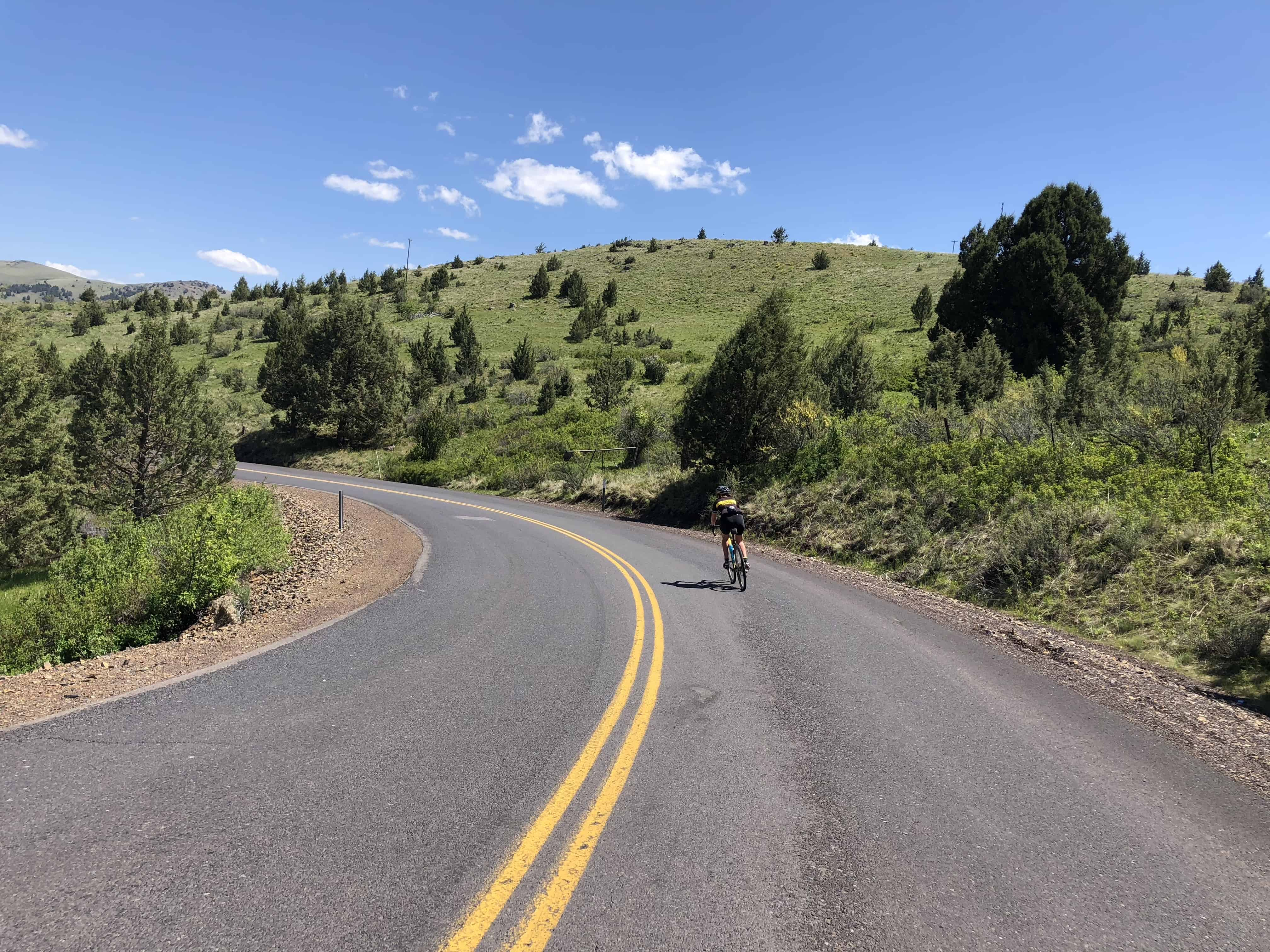 Cyclist on Oregon Route 218