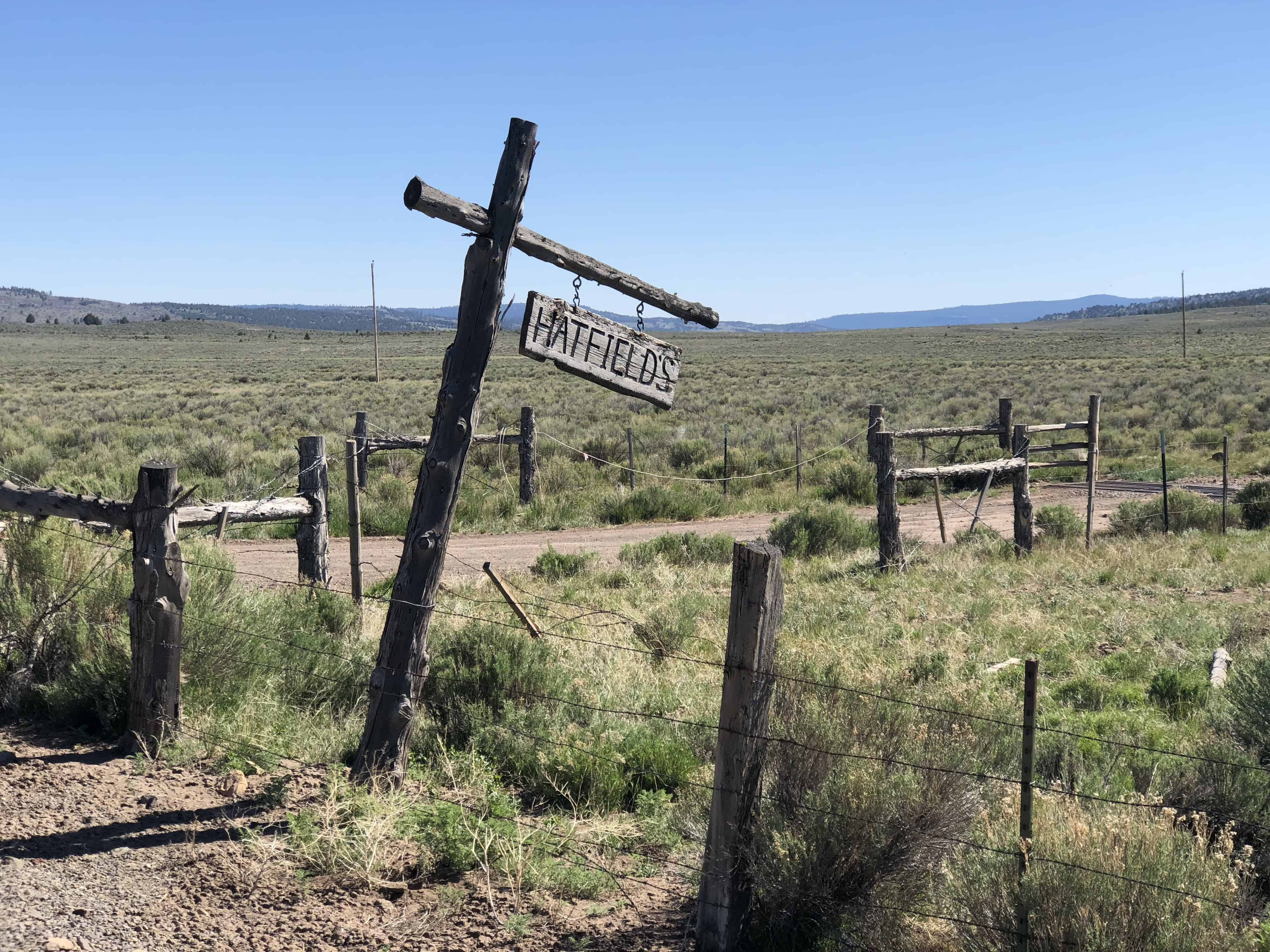 An old homestead marker on Pringle Flat road in Central Oregon.