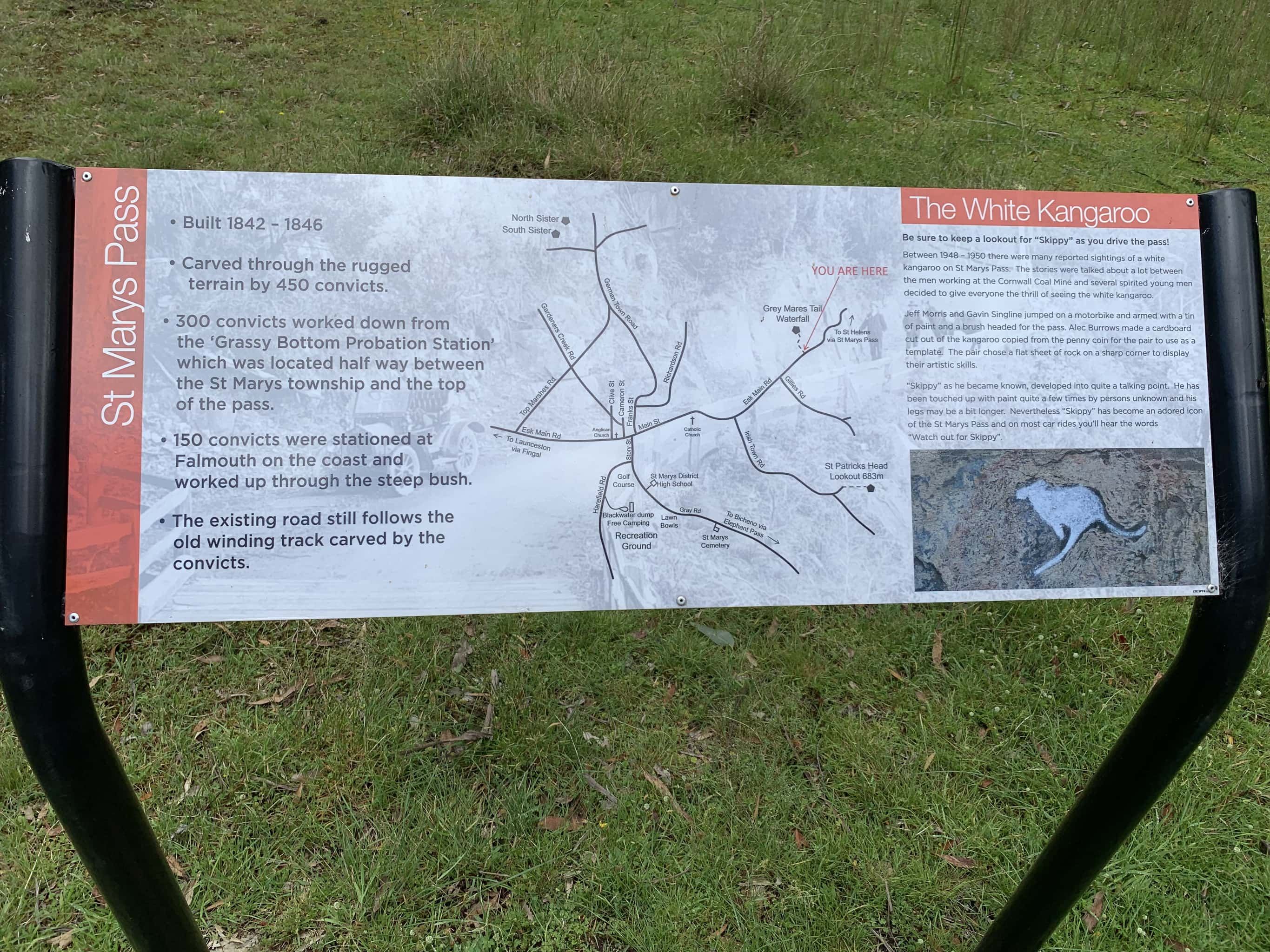 Map of St Marys pass