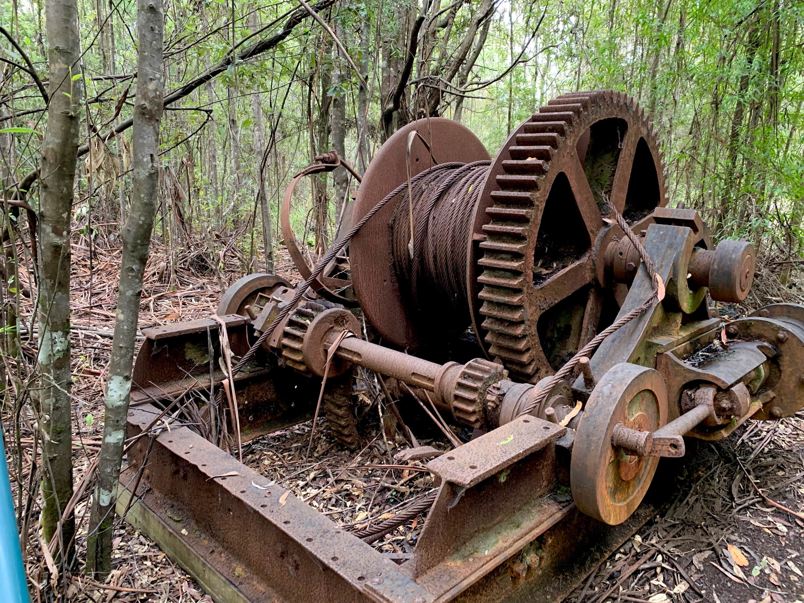 Old piece of milling equipment from Clennetts mill site.