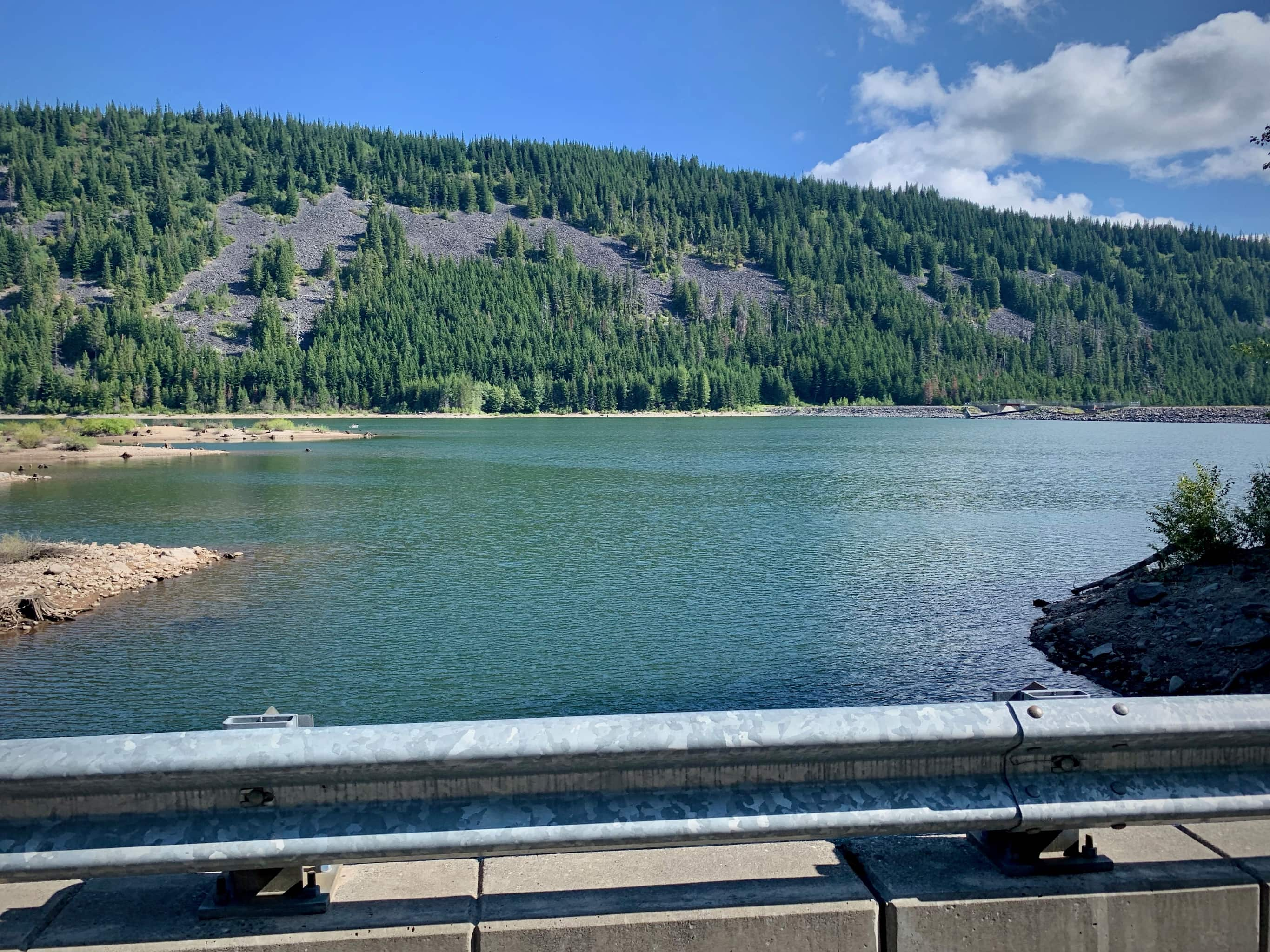 Laurance Lake from the road. Mt. Hood National forest.