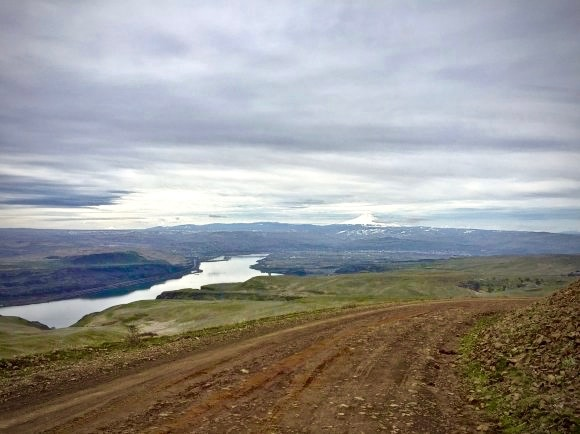 Gravel road near The Dalles, Oregon.