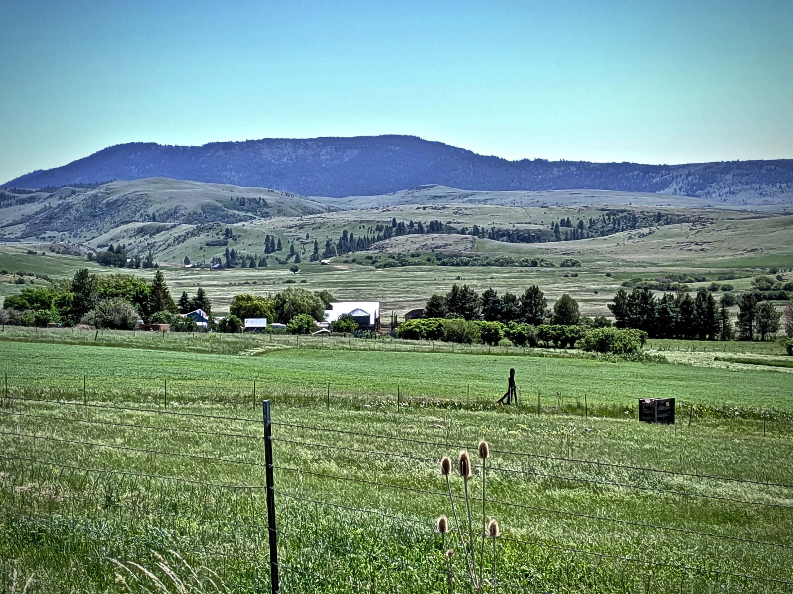 View of the Grande Ronde valley farm lands.