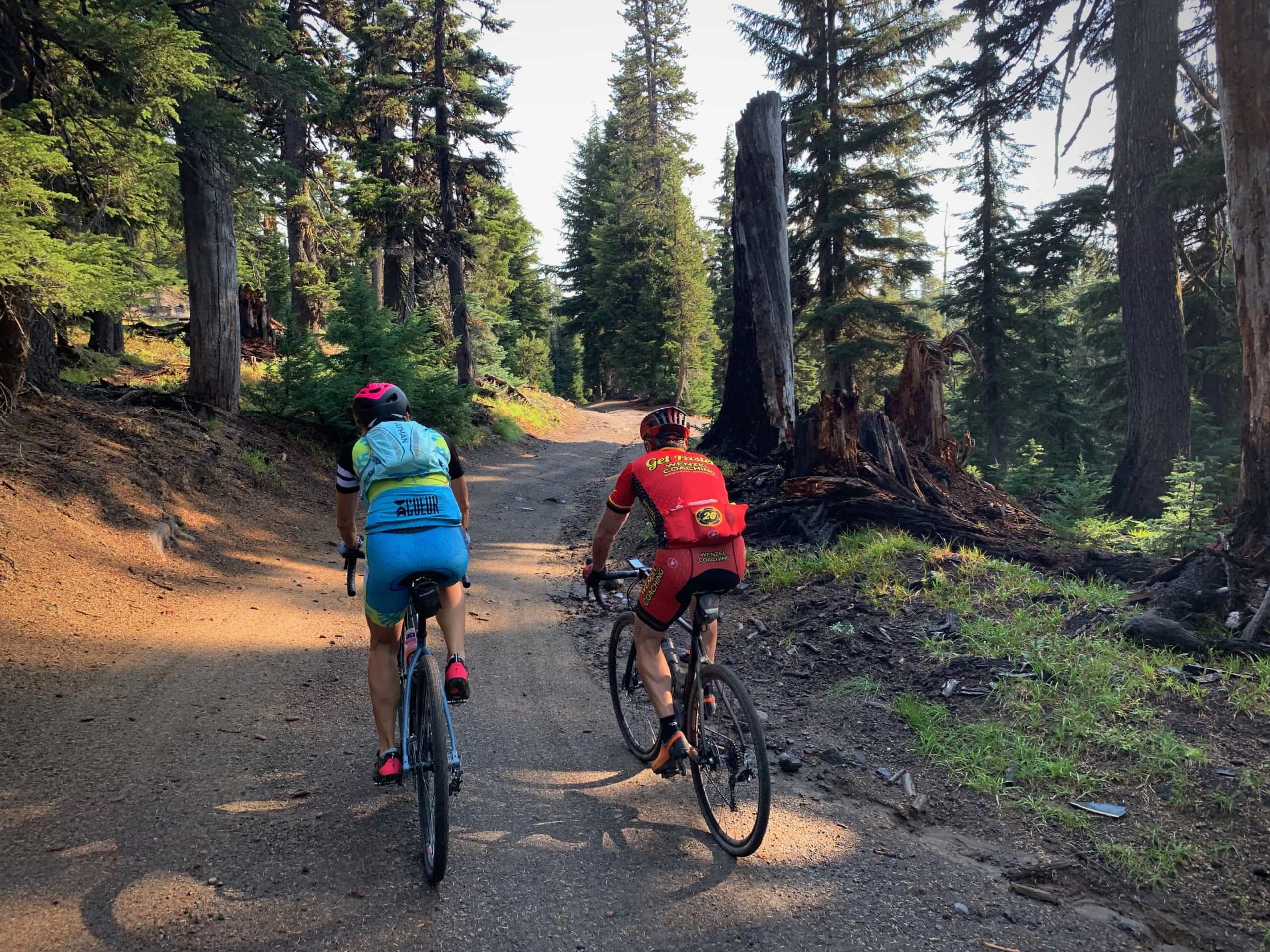 Riding the forest service roads in the Deschutes National forest near Bend, Oregon.