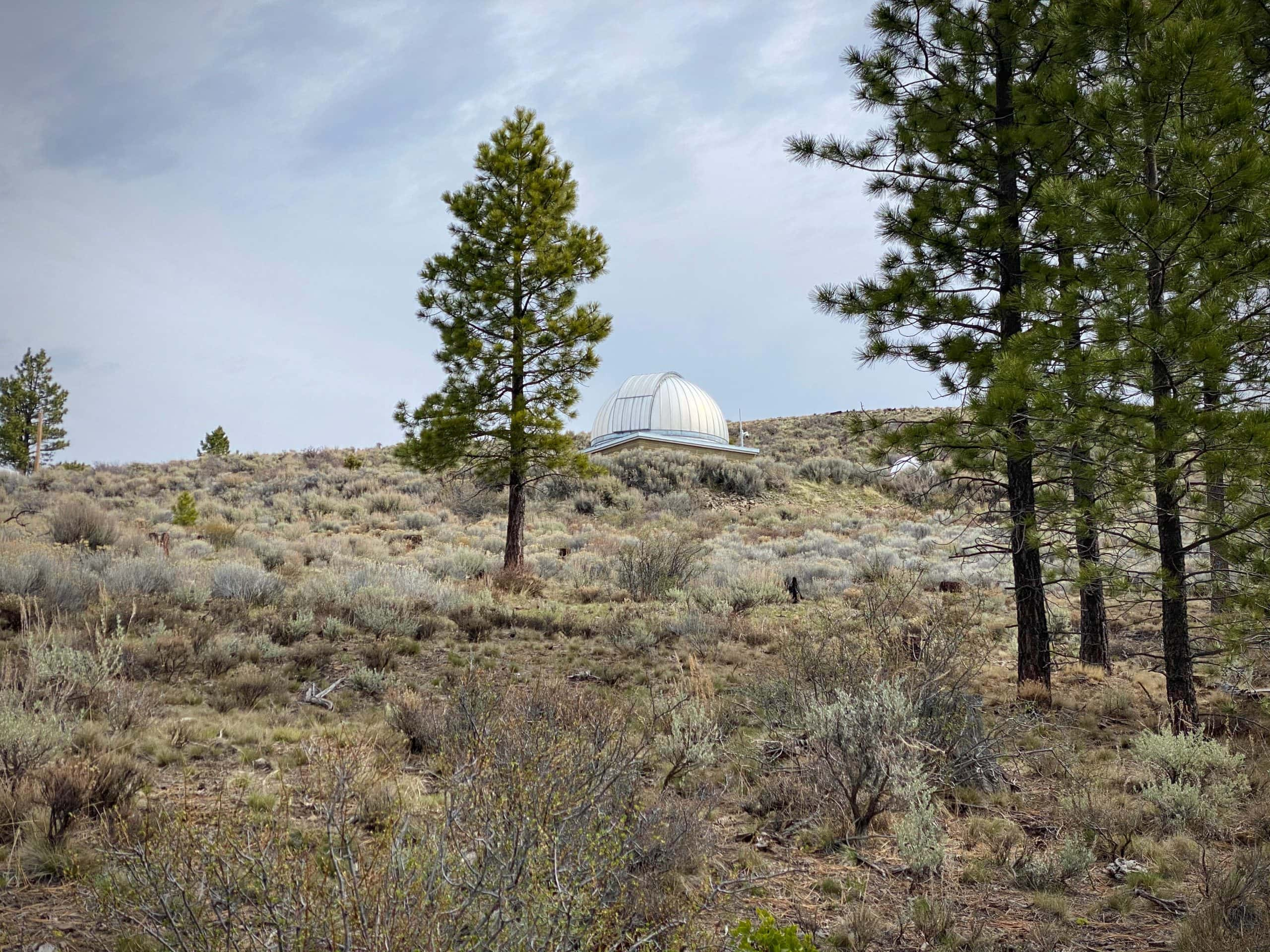 One of the observatory buildings on the top of Pine Mountain near Bend, Oregon.