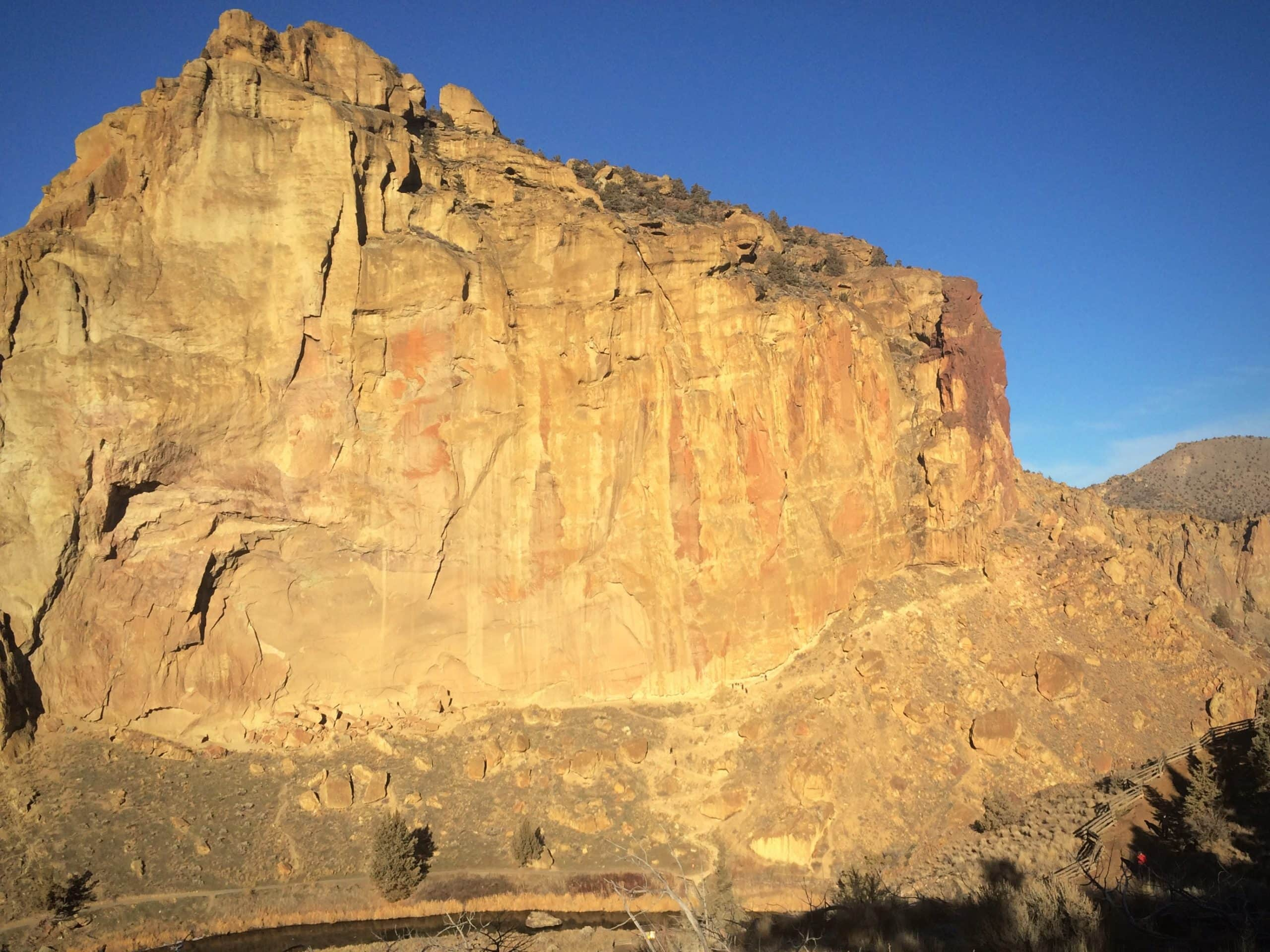 Morning Glory wall at Smith Rock state park in Oregon.