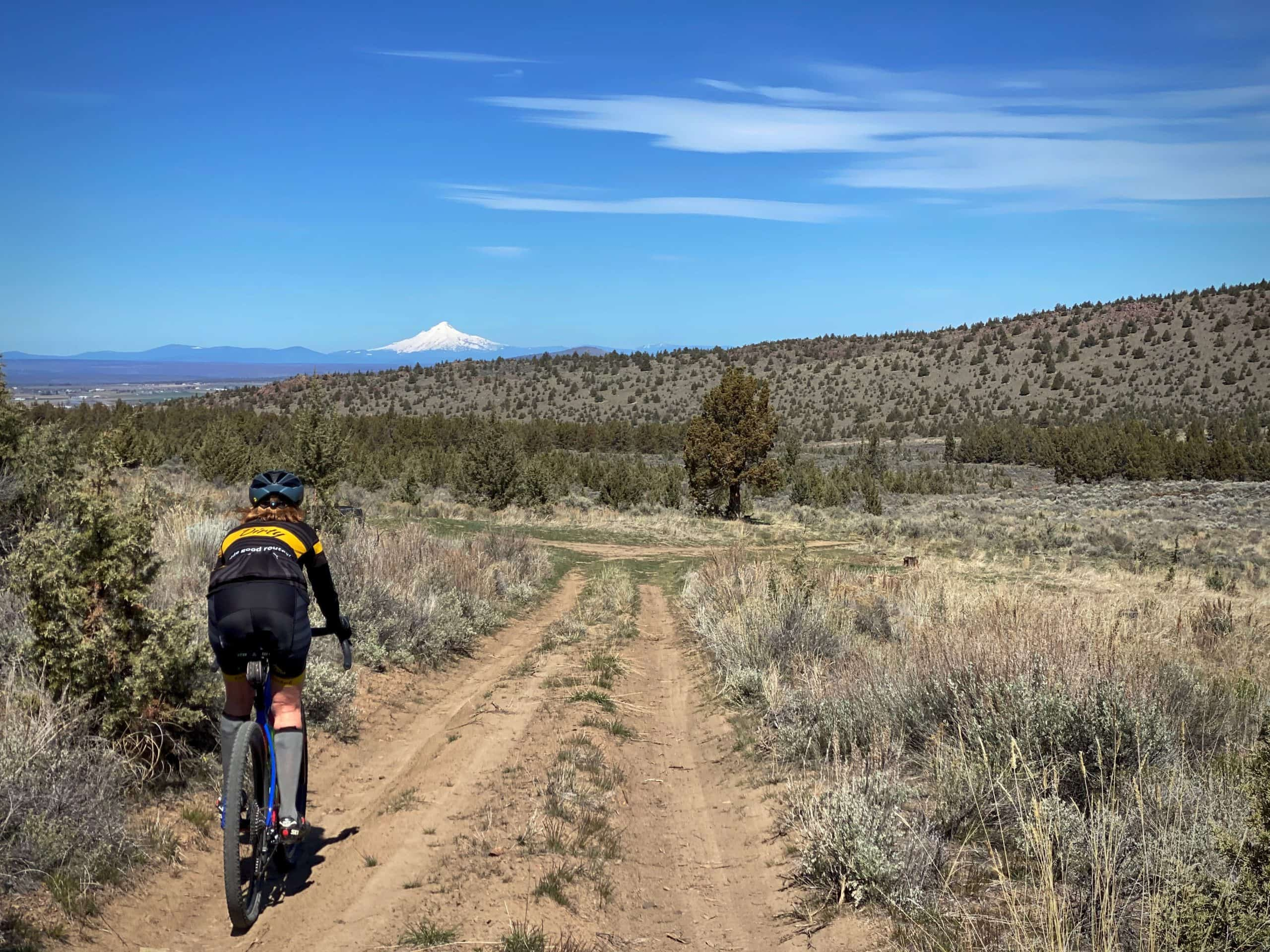 The first sector of gravel in the Crooked River National Grassland near Prineville, Oregon.