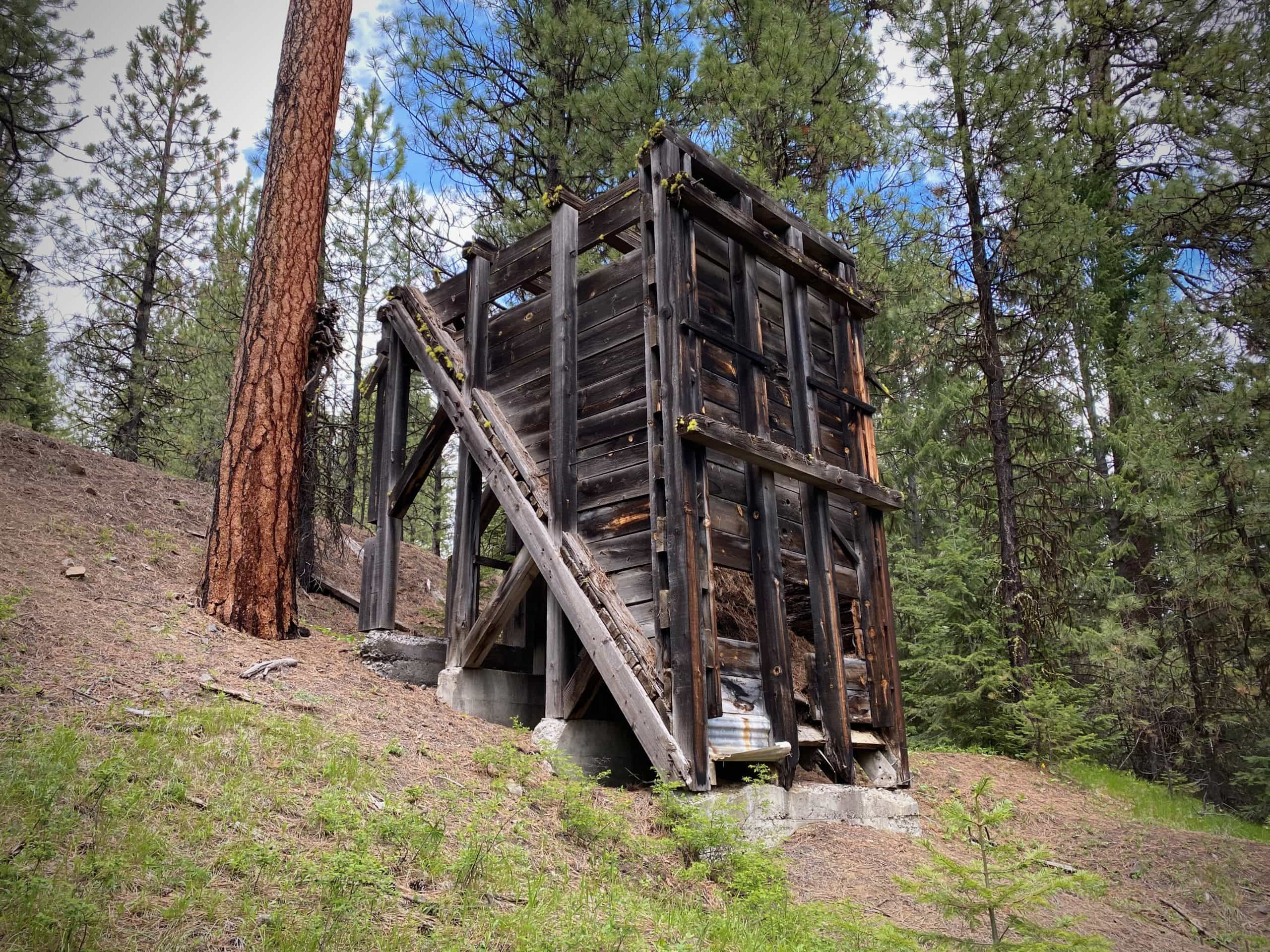 An old structure from the Amity mine in the Ochoco National forest.
