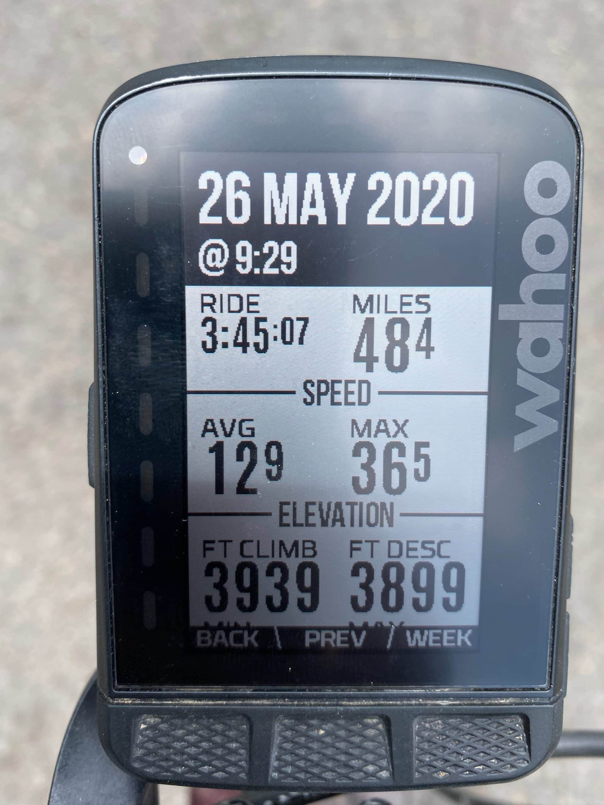 Captain O's ride metrics for the Big Summit Prairie route, from Dirty Freehub, done on a single speed gravel bike.