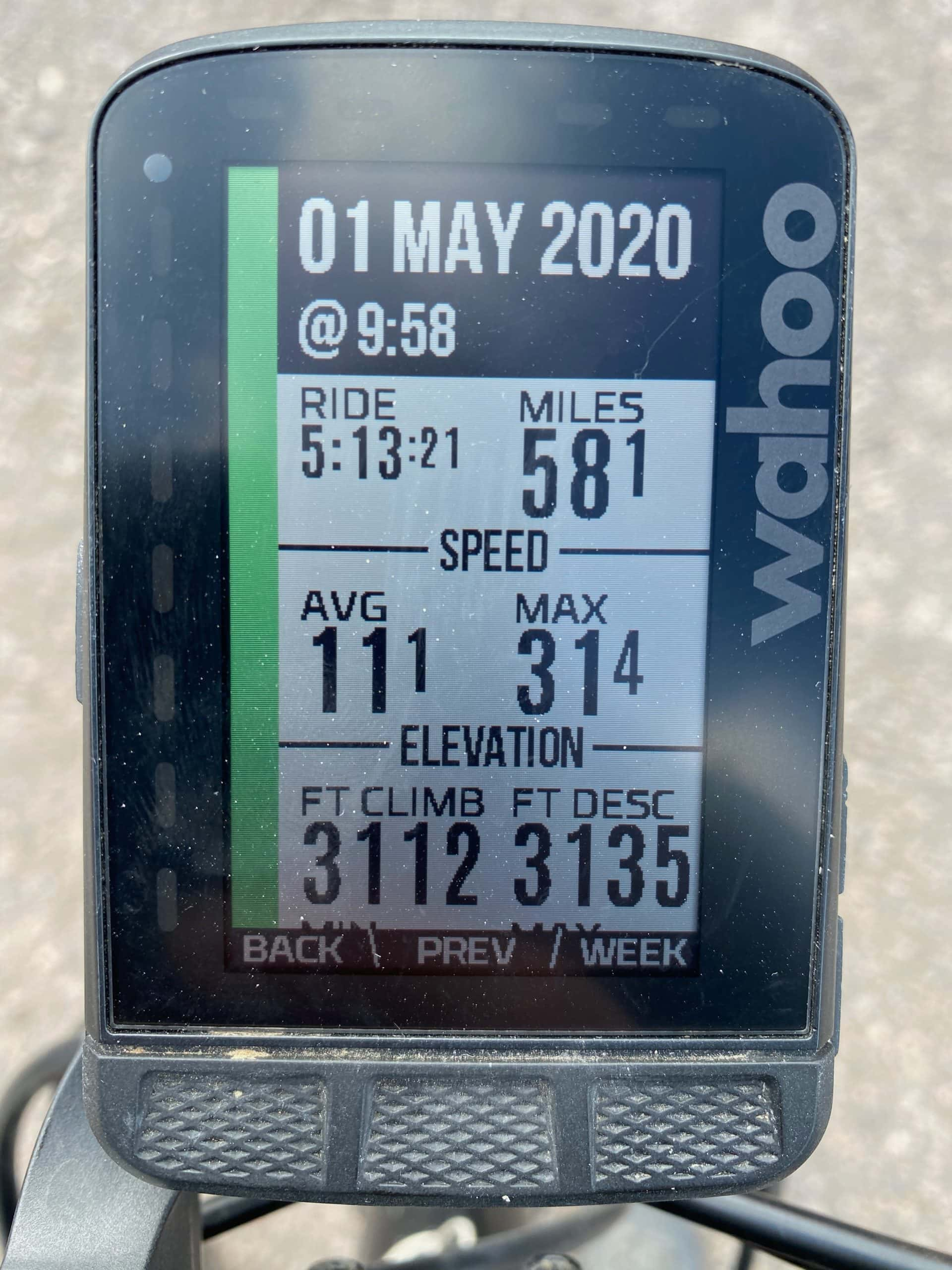 Gravel Girl's ride metrics for Giants Throwing Stones route on Dirty Freehub.