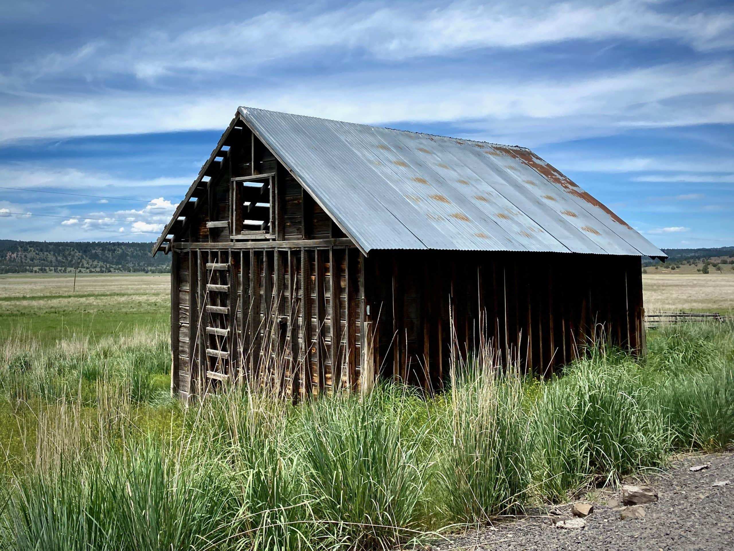 Old farm building along the edges of Paulina valley.