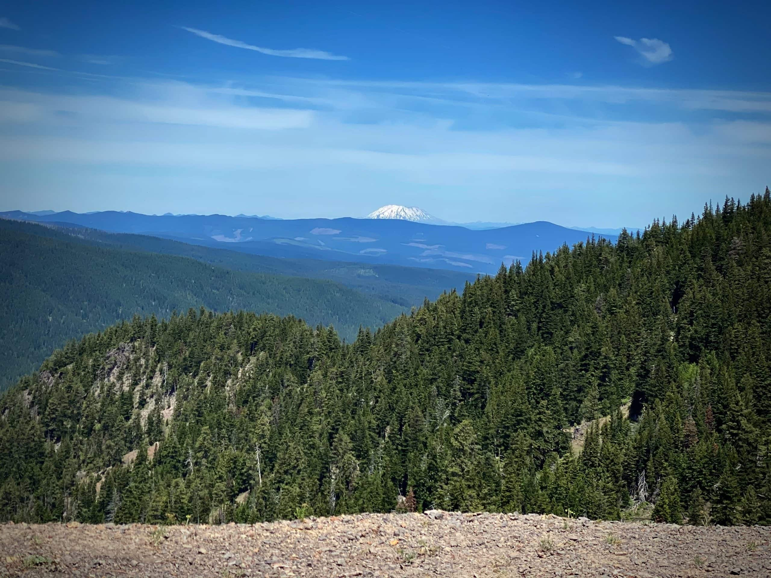 Mt St Helens in the distance. Picture taken from Bennett Pass road near Hood River, Oregon.