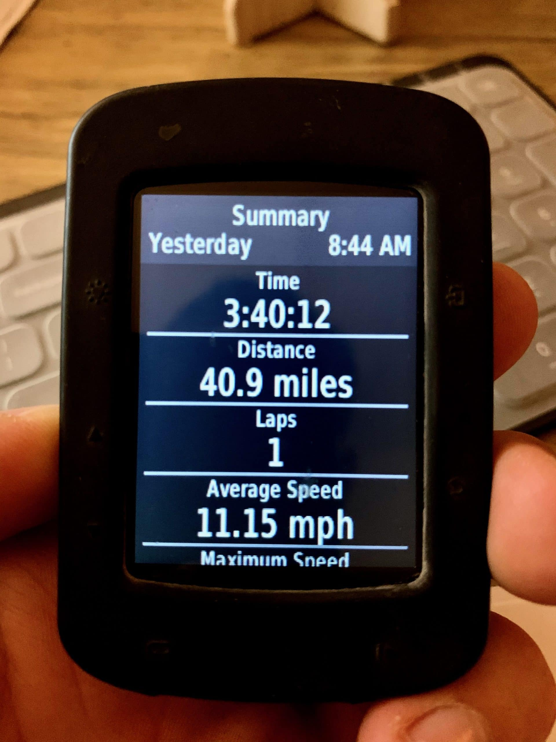 JoshV's ride metrics for the Rim Road 40 route on Dirty Freehub. Part 1.