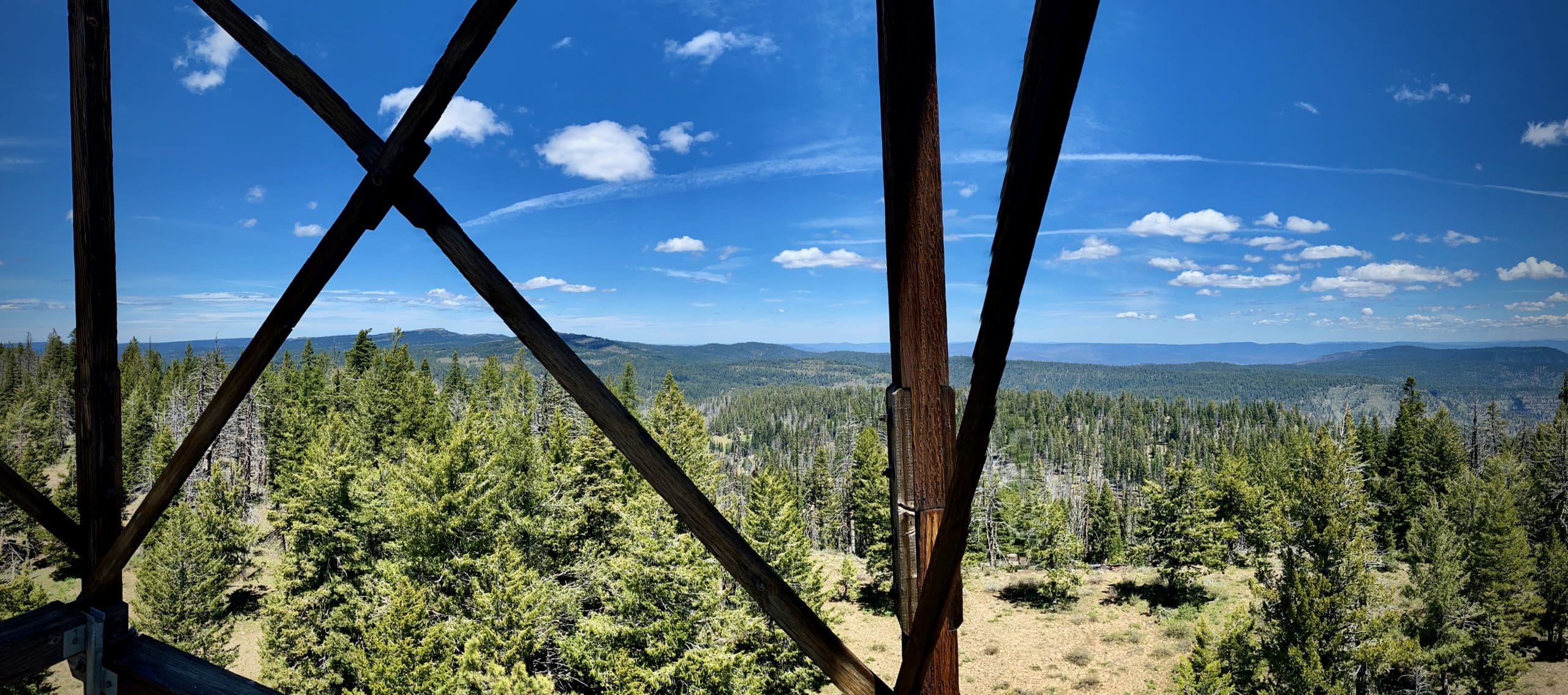 A view of the Black Canyon Wilderness from Wolf Mountain Lookout in the Ochoco National Forest.
