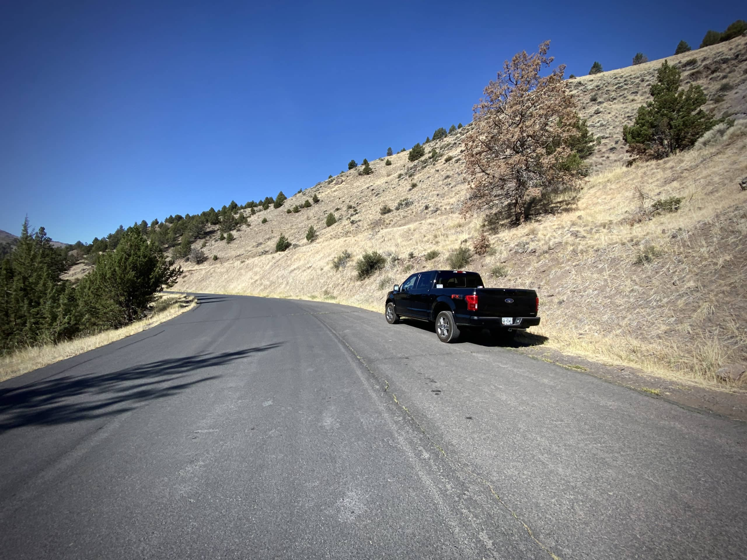 Pullout parking area on NF 33 near Paisley, Oregon.