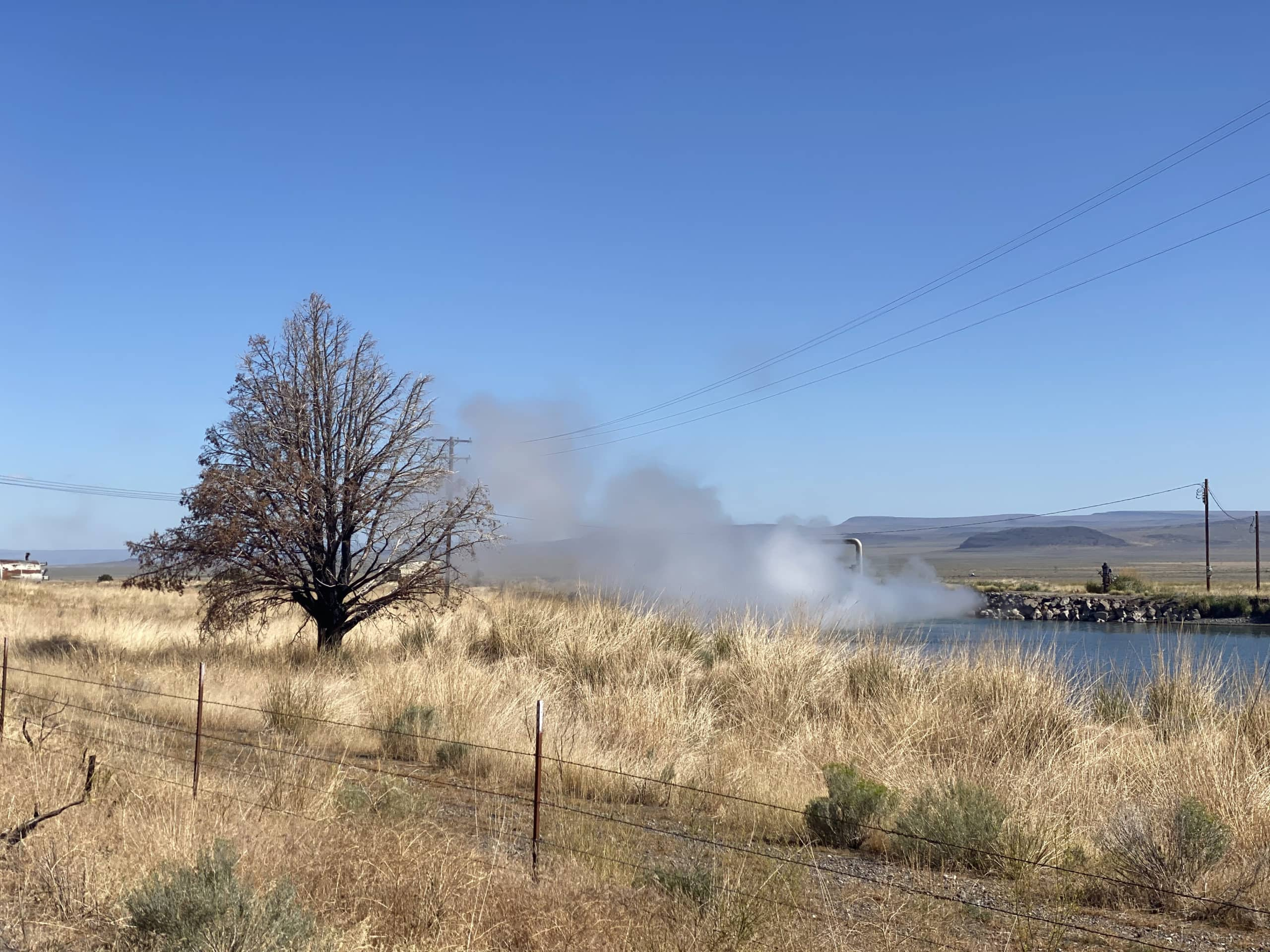 The defunct geothermal plant in Paisley, Oregon.