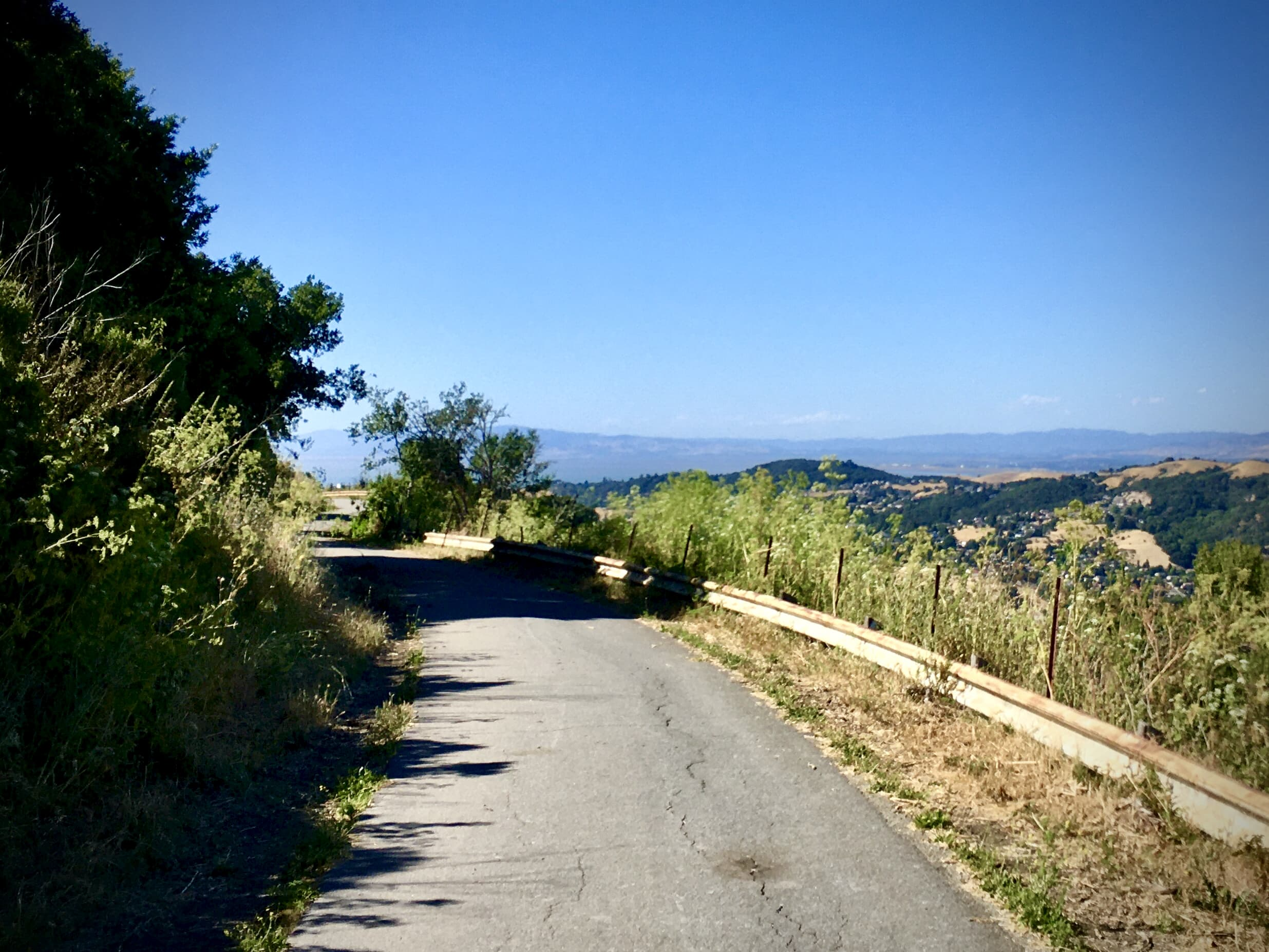 Cury, cycling road in the hills near Oakland, California.