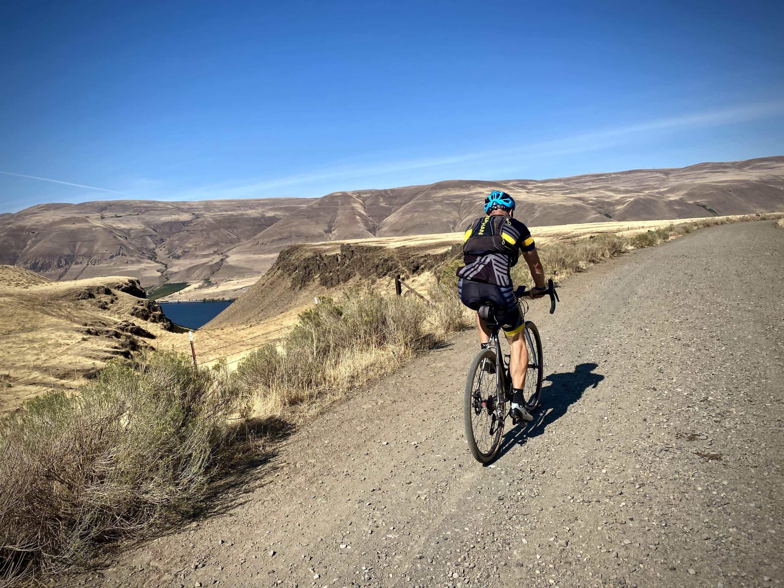 Old Moody road, high above the Columbia River, with The Dalles in the distance.