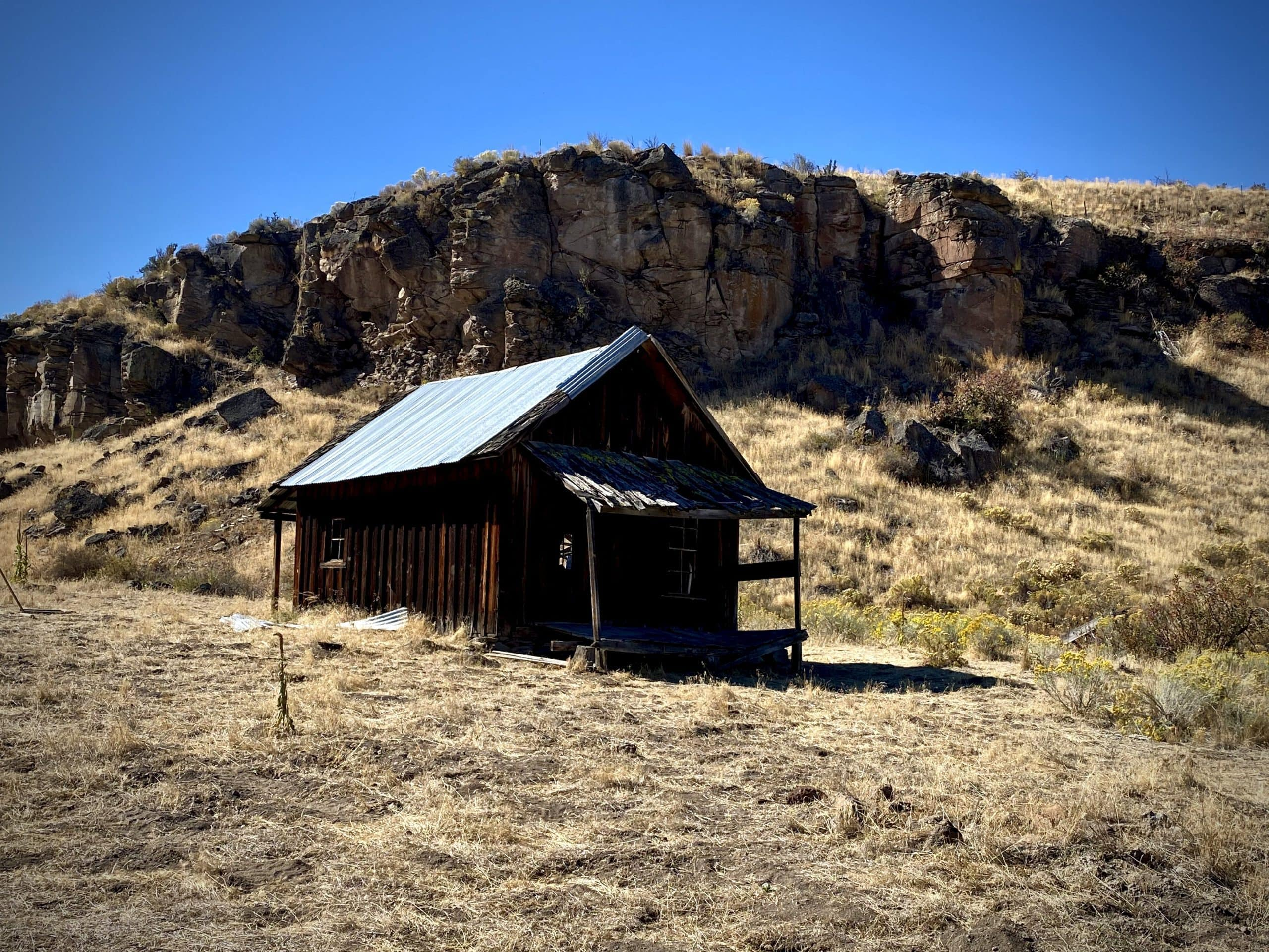 One of the out buildings on Murderers Creek Ranch.