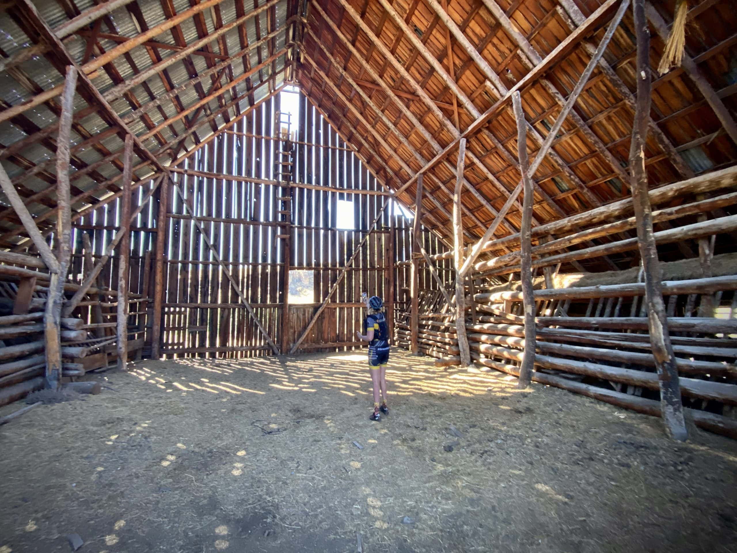 Inside one of the out buildings at Murderers Creek Ranch in Oregon.