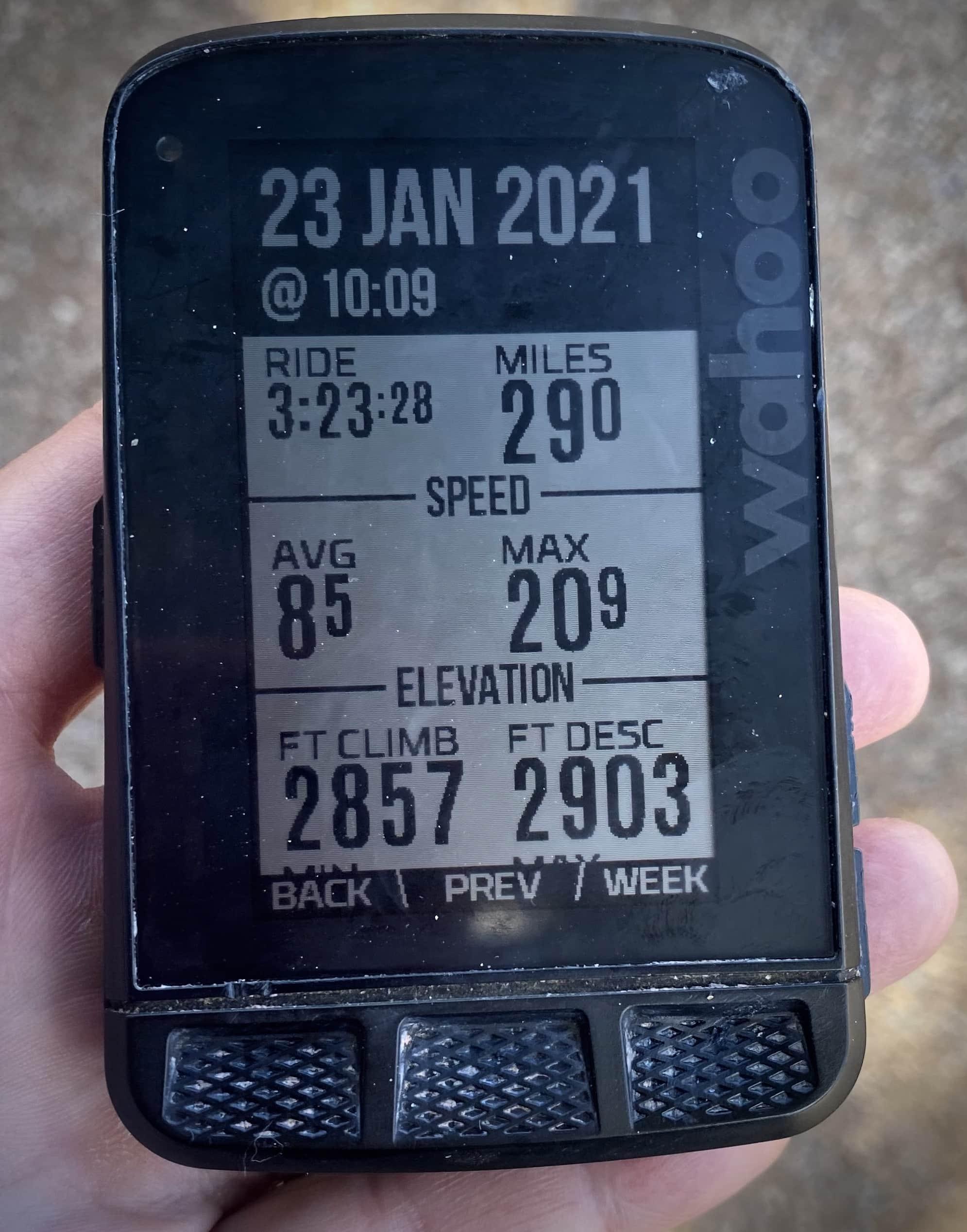 Gravel Girl's ride metrics for the Alto Ruins route near Patagonia, AZ.