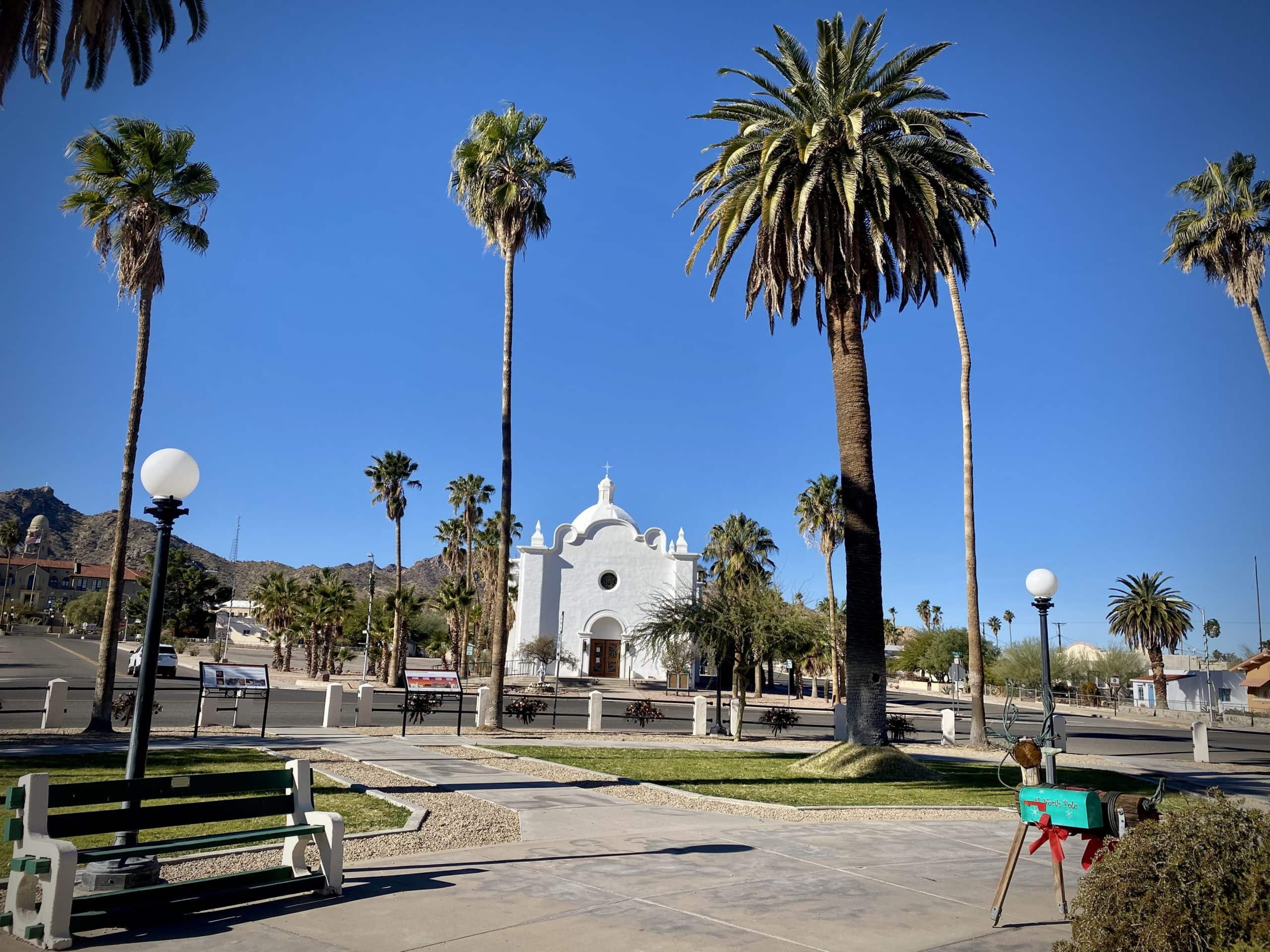 The Ajo Town Plaza.