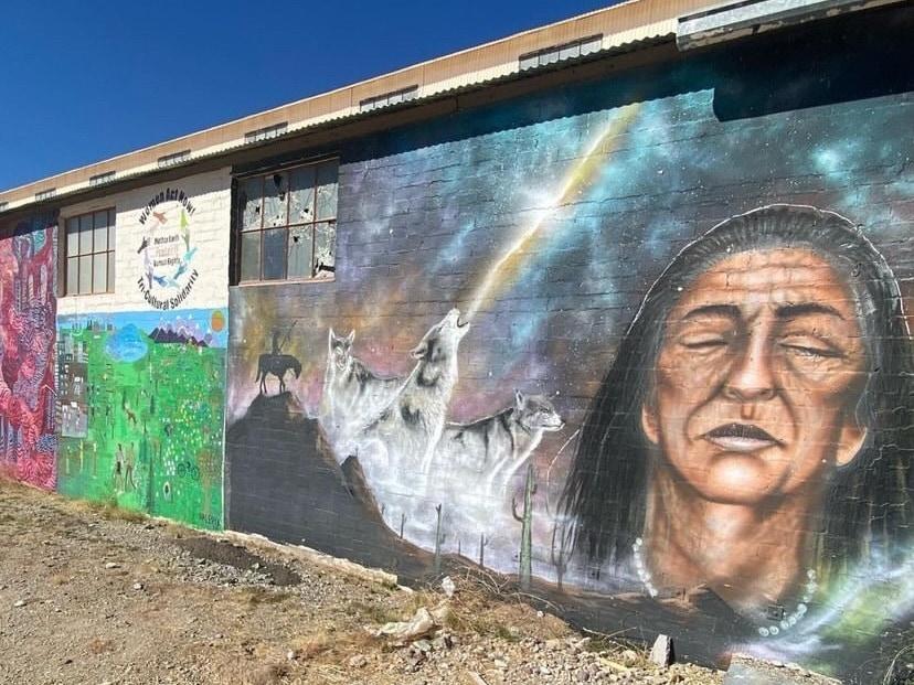 Ajo wall mural.