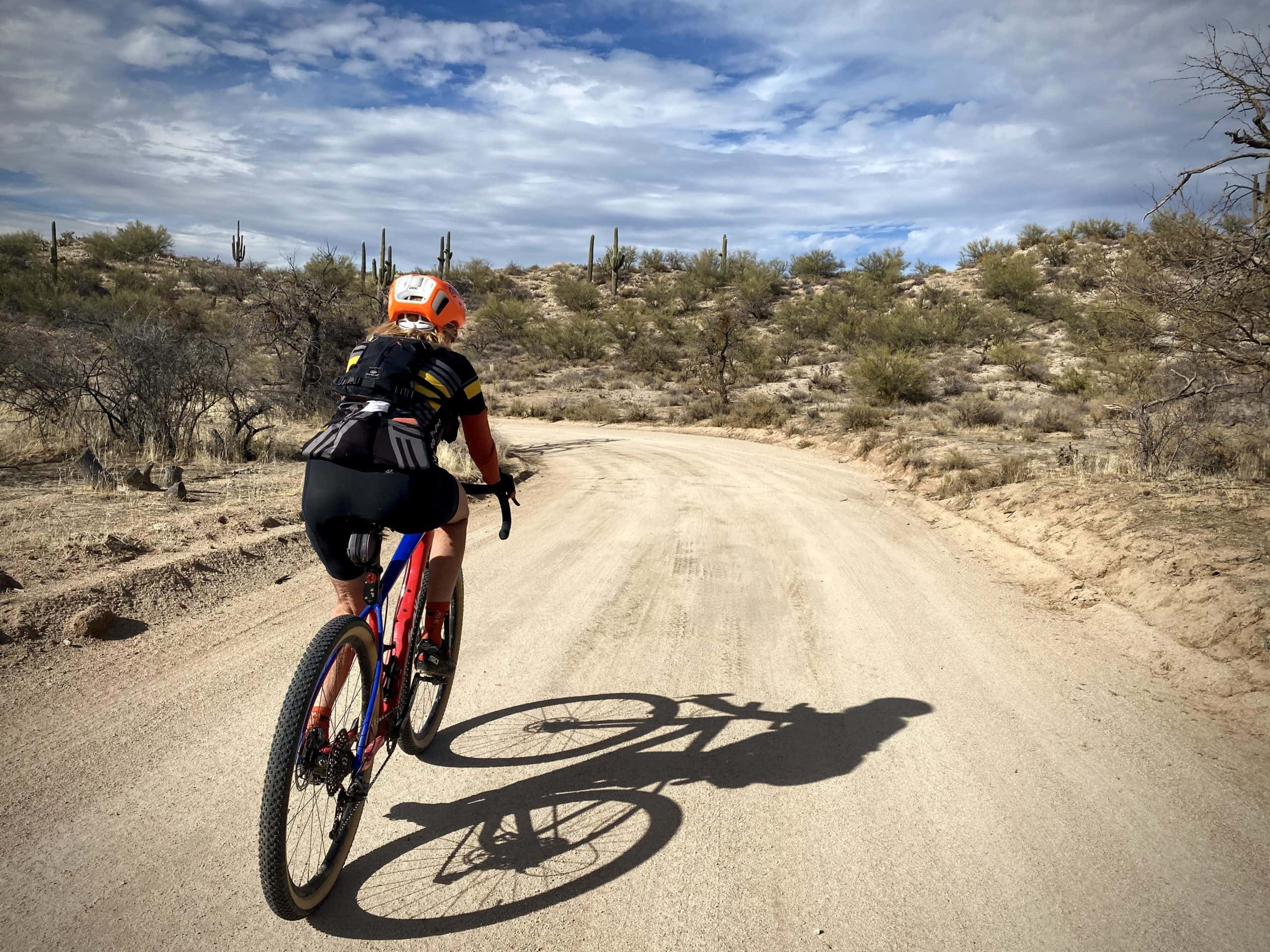 Gravel Girl on riding the 96 Ranch road.