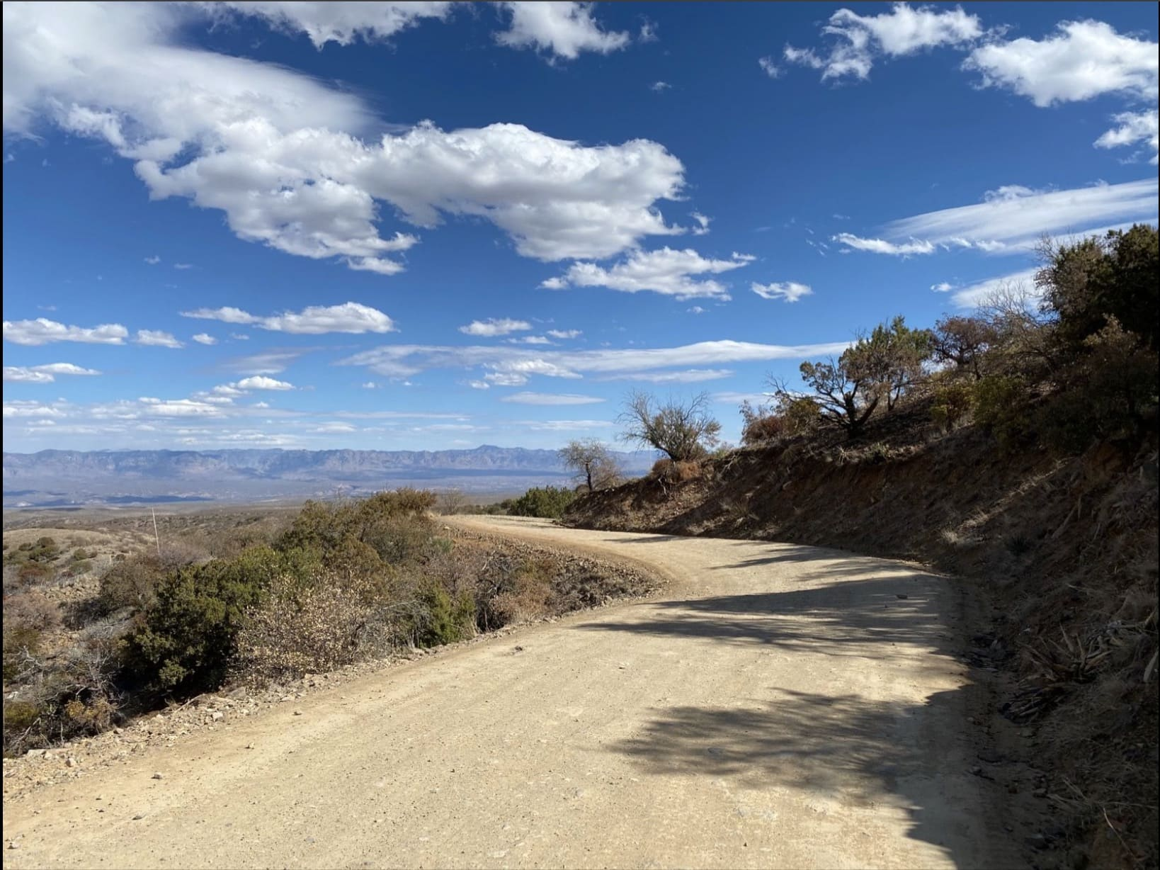The Control Road leading to Mt Lemmon, gravel.