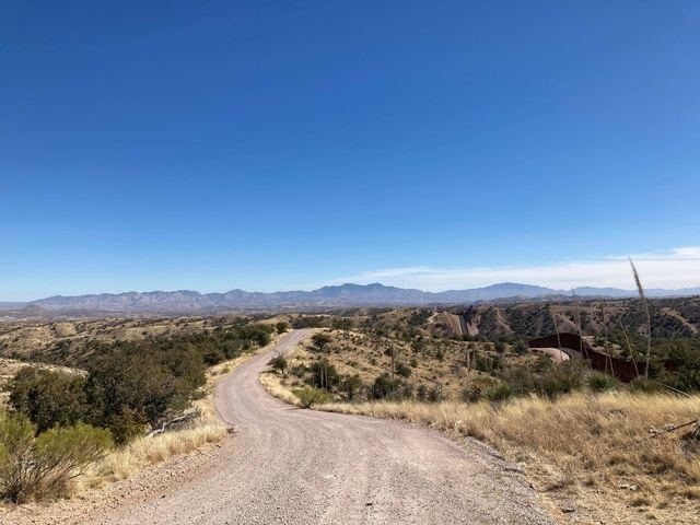 Gravel road in the Pajarito mountains.