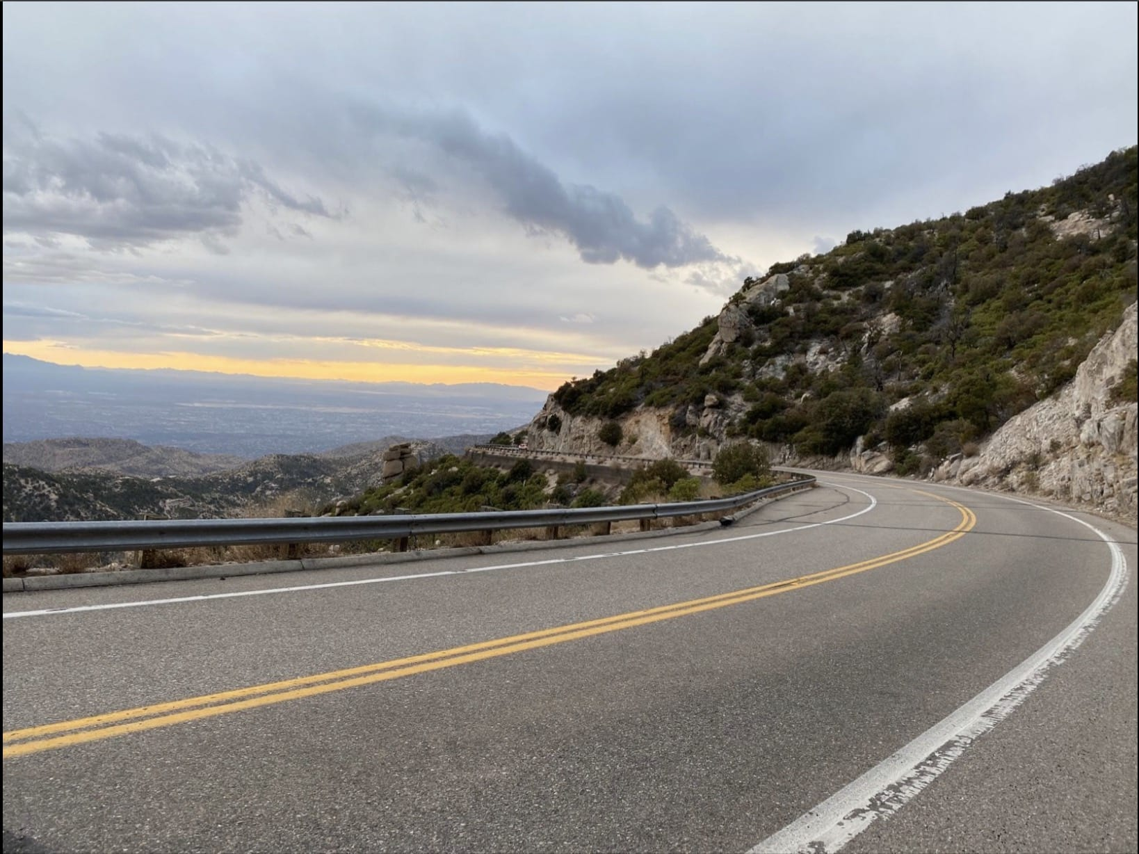 The Mt Lemmon paved road.