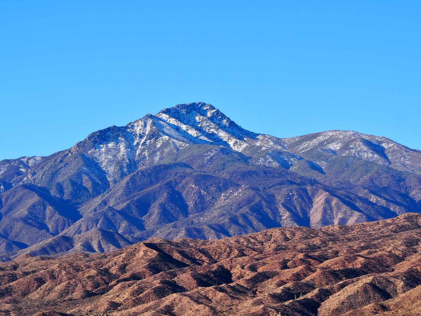 The backside of the Four Peaks by Theodore Roosevelt Lake.