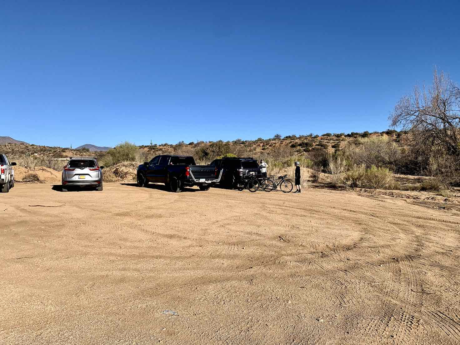 Parking area just off the Highway 188.