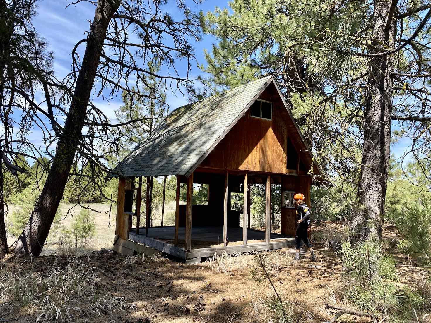 An old hunting shack near the Klamath Marsh.