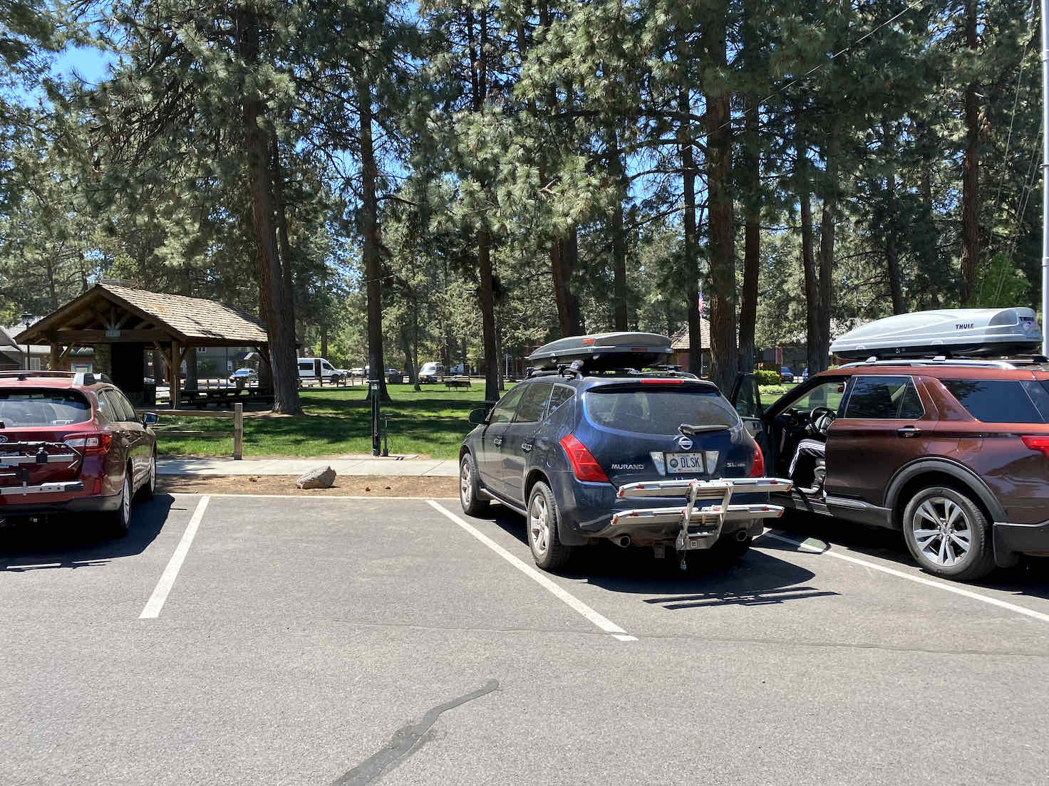 The parking area at Sisters City Park.